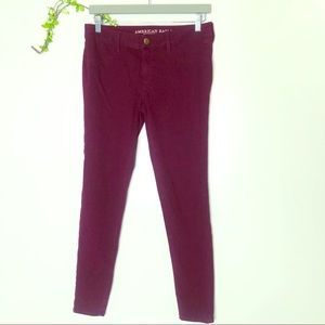 American Eagle Outfitters Maroon Jeggings Stretch